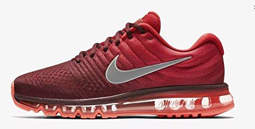 NIKE Men's Air Max 2017 Nylon Running Shoes MaroonWhiteGym Red 13 M US
