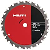 framing blades 10pack - Hilti 00290205 7-1/4-Inch by T24 FR High Performance Circular Saw Framing Blade, 10-Pack