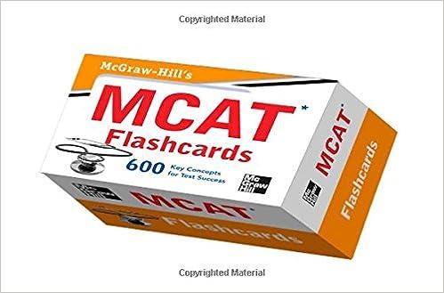 Mcgraw Hills Mcat Flashcards 9780071770262 Medicine Health