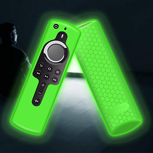 Remote Silicone Case Cover for Fire TV Stick 4K/ Fire TV Cube/Fire TV (3rd Gen) with All-New Alexa Voice Remote Shockproof Waterproof Skin(Glow) ()