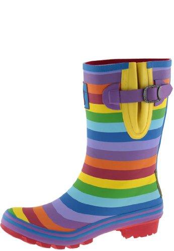 everc reatures Rainbow Short Ladies Wellies Multi