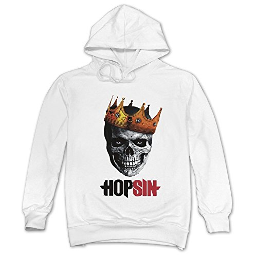 [MAGGO Stage Name Hopsin Pound Syndrome Hoodies Mens White] (United Nations Costumes For Women)