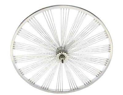 "26"" Fan 144 Spoke Coaster Wheel 14G Chrome. Bicycle wheel, bike wheel, Lowrider bike wheel, lowrider bicycle wheel, chopper, beach cuiser, stretch bike, bike part, bicycle part"