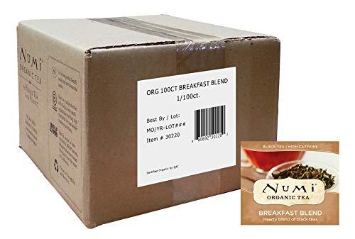 Numi Organic Tea Breakfast Blend, 100 Count Box of Tea Bags, Black Tea (Packaging May - Organic Blueberries Blend