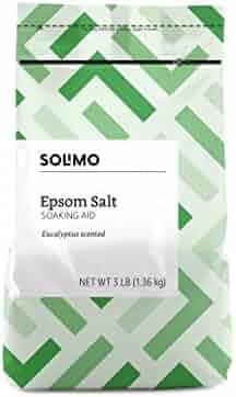 Amazon Brand - Solimo Epsom Salt Soaking Aid, Eucalyptus Scented, 3 Pound