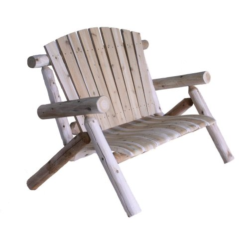 Cedar Lounge Chair - Lakeland Mills 4-Foot Cedar Log Love Seat, Natural