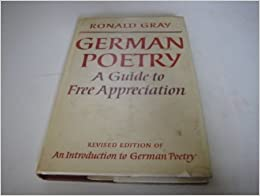 Book German Poetry: A Guide to Free Appreciation