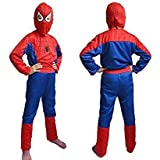 Happy GiftMart Spiderman Costume for Children, 5-6 Years (Multicolour)