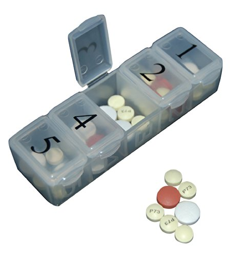 e-pill 5 X Per Day Pillbox Organize and Dispense all your pills up to five times per day with this e-pill pill box. by e-pill Medication Reminders