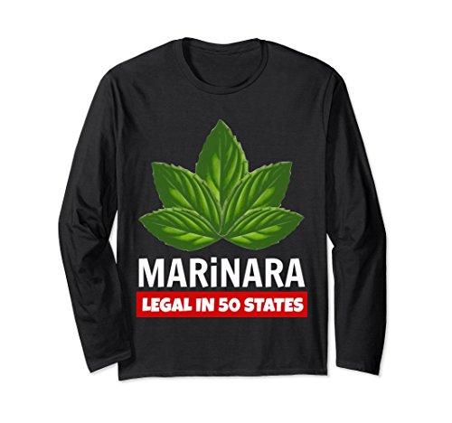 Marinara Legal in 50 States Basil Leaves Unisex Long-Sleeve T-Shirt