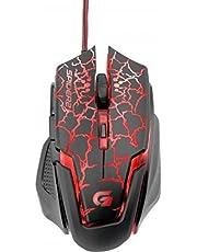 Mouse Gamer USB 3200DPI Spider 2, Fortrek, Mouses, Preta/Vermelho