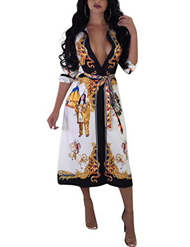 Vilover Women's Flowy Dress Kimono Cardigan Open Front Dress Belted (S, (Floral Belted Romper)