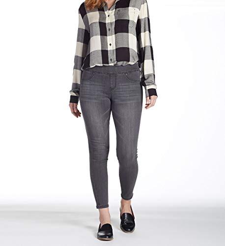 Jag Jeans Women's Marla Denim Legging, Cinder Grey, L (Denim Leggings Grey)