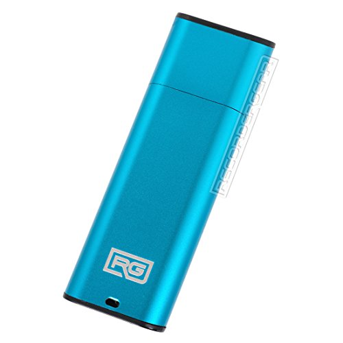 Price comparison product image FD10 8GB USB Flash Drive Voice Recorder / Small 192kbps HD Quality Audio Recording Device / 16hr Battery & 90hr Capacity (Blue)