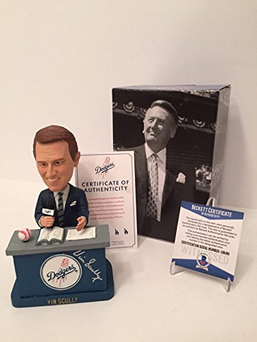- Vin Scully Signed 2012 Limited Edition Dodgers Baseball Bobblehead Beckett BAS - Beckett Authentication