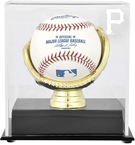 (Sports Memorabilia Pittsburgh Pirates (2014-Present) Gold Glove Single Baseball Logo Display Case - Baseball Free Standing Display)