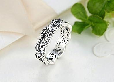 Amazon.com: Dixey Luxury Anillos Sortijas 14k de Compromiso Aniversario Matrimonio Boda Oro Plata Anel De Prata 925 Joyeria Fina para Mujer: Jewelry