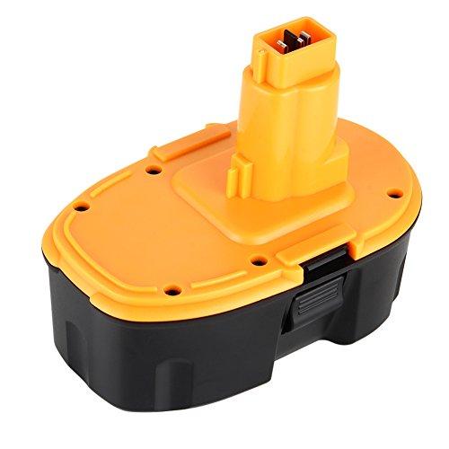LYPULIGHT 18V 3.0Ah Ni-MH DC9096 Remplacement Batterie Originale Dewalt DC9096 DE9095 DE9039 DE9096 DE9098 DE9503 DW9095 DW9096 DW9098 Noir-Jaune