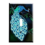 Midnight Peacock Switchplate - Switch Plate Cover
