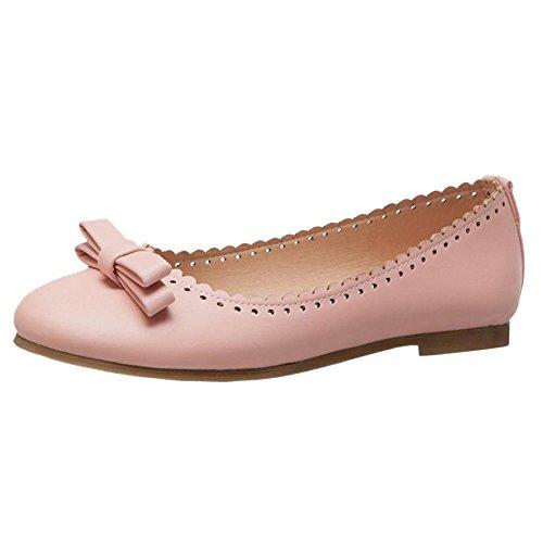 COOLCEPT Damen Mode Flach Pumps Schuhe Pink-59