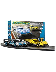 Scalextric Ginetta Racers 1:32 Analog Slot Car Race Track Set C1412T Yellow, Silver & Blue