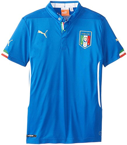 Puma Boy's Italia Home Replica Soccer Jersey, Team Power Blu