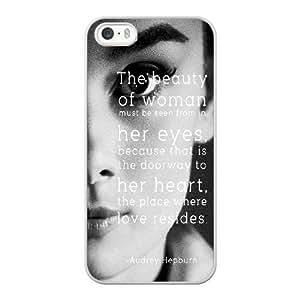 iPhone 5 5s SE Case White audrey hepburn_004
