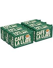 Cafe La Llave Espresso, 100% Pure Ground Coffee, Espresso, 60 Ounce (10 Ounce x 6 Units)