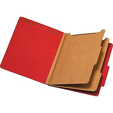 Staples Brightly Colored Classification Folders, Letter, 2 Partitions, Red, 5/Pack by BRIGHTON PROFESSIONAL (Garden Brighton)