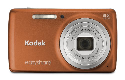14 MP Digital Camera with 5x Optical Zoom and 2.7-Inch LCD - Orange ()