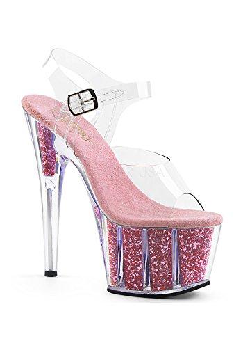 B Sandales Pink Femme Plateforme Inserts Pleaser C S Clr Ado708g Glitter n0Pwx1qfg