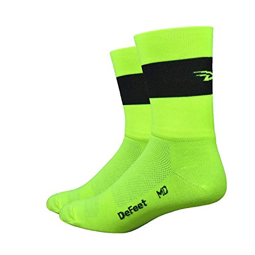 DeFeet Aireator Team Double Cuff Socks, Neon Yellow, Large