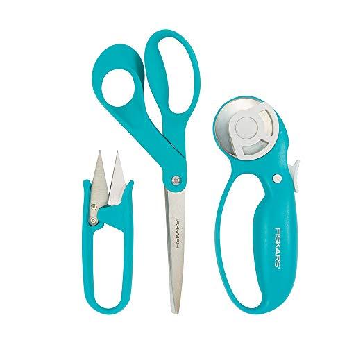 Fiskars 154233-1002 Garment Making Starter Kit (3pc), Turquoise ()