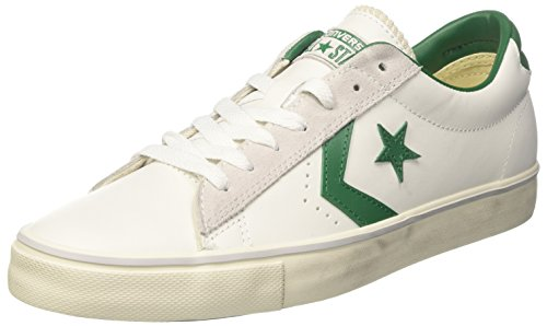 White Table Pool Leather Vulc Sneaker Collo Uomo Ox Basso Turtledove PRO Bianco Converse a PvqE75F5w