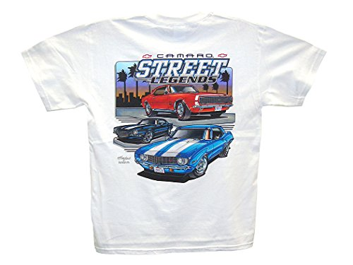 1969 Camaro Motion Baldwin (Hot Shirts Camaro Street Legends T-Shirt: Large White - Chevy Chevrolet Z/28 SS RS 1967 1969 1970)