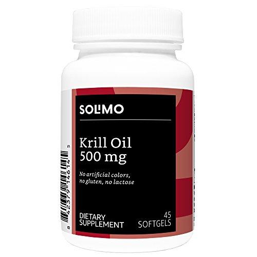 Amazon Brand - Solimo Krill Oil 500mg, 45 Softgels, 45-Day Supply
