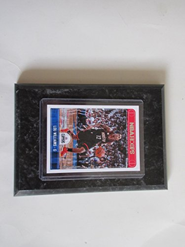 "LOU WILLIAMS LA CLIPPERS NBA HOOPS 2017-18 PLAYER CARD MOUNTED ON A ""4 X 6"" BLACK MARBLE PLAQUE"