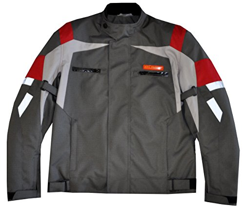 Lionel Mens Cordura Motorcycle Jacket with Padded Protect...