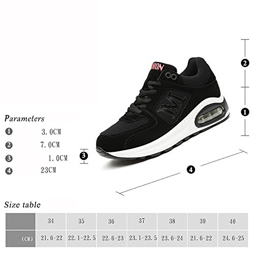 LVZAIXI Shoes Fall Size Red Color EU36 cozy Shoes Female Shoes Tide shoes Black CN36 Sports UK4 Black Flat YrxXqBwrIO