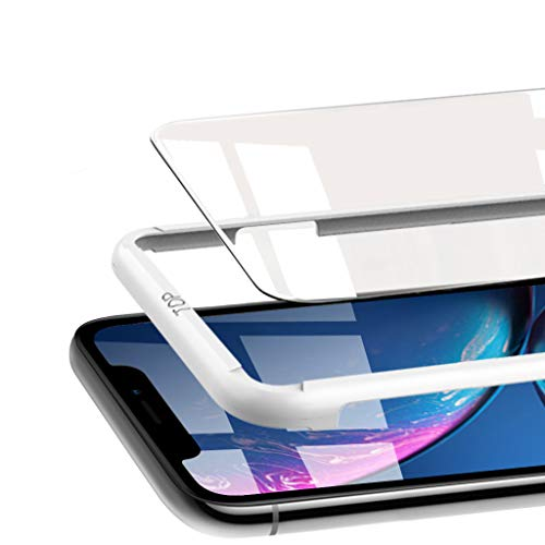 Honejeen Compatible with iPhone XR Screen Protector, [3pack 6.1 Inch 2018 0.25mm] Scratch-Resistant 2.5D Curved Edge [Case Friendly] 6.1 Inch Tempered Glass Screen Protector with Guidance Frame