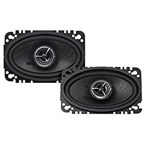 "Kenwood KFC-X463C Excelon 4x6"" 2-Way Speaker System - Pair (Black)"