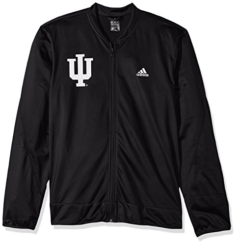 adidas NCAA Indiana Hoosiers Mens On Court Warm-Up Jacketon Court Warm-Up Jacket, Black, ()