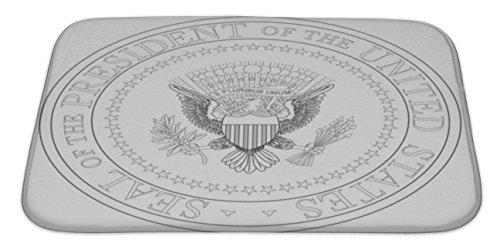 (Gear New Bath Rug Mat No Slip Microfiber Memory Foam, Presidential Seal, 34x21)