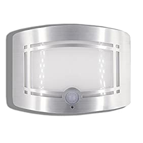 Motion Sensor Auto LED Night Light - Soft Warm White Wireless Wall Sconce Light Controlled by Motion Activated Sensing & Light Sensor - Stick on Anywhere Wireless Battery Powered (Not included)