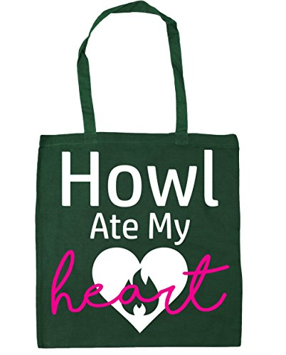 42cm Howl litres Green Bottle Tote x38cm Gym HippoWarehouse My Ate 10 Shopping Bag Beach Heart ngnS4p