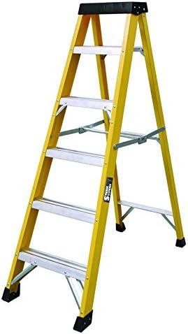 Escalera de fibra de vidrio de 6 peldaños 30000v para electricistas Heavy Duty EN131 – GRP Escalera de escalera Sterk Systems: Amazon.es: Hogar