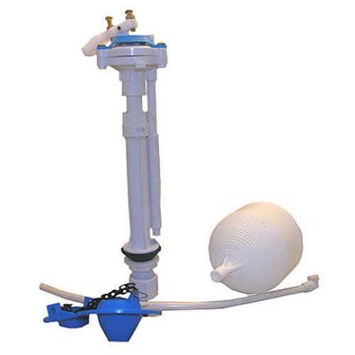 (LASCO 04-4041 Toilet Ballcock with Anti-Syphon Plastic Adjustable 9-Inch-13-Inch Fill Valve Kit with Float, Float Rod, Refill Tube, Flapper and Nut)