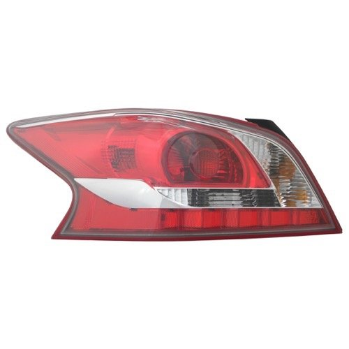 Nissan Altima Tail Light Cover - Go-Parts OE Replacement for 2013 Nissan Altima Rear Tail Light Lamp Assembly/Lens / Cover - Left (Driver) Side - (Sedan) 26555-3TA0B NI2800195 for Nissan Altima