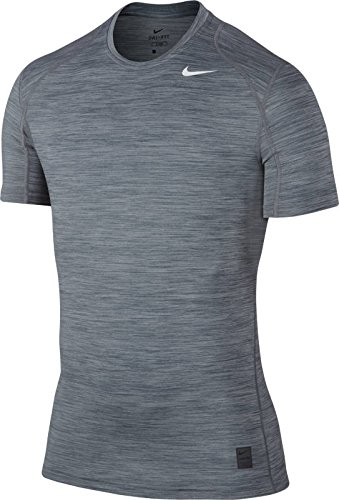 Nike Mens Pro Cool SS Fitted Training Top Cool Grey/White 624314-065 Size Medium