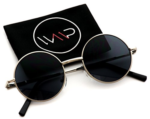New Retro Vintage Lennon Inspired Round Metal Small Circle Sunglasses (Sunglasses Round)